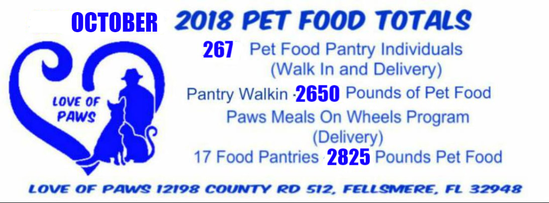 Paws Meals On Wheels Pet Food Bank - For The Love of Paws